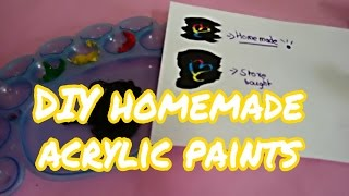 DIY homemade acrylic paints with easy materials|Crafting shrafting