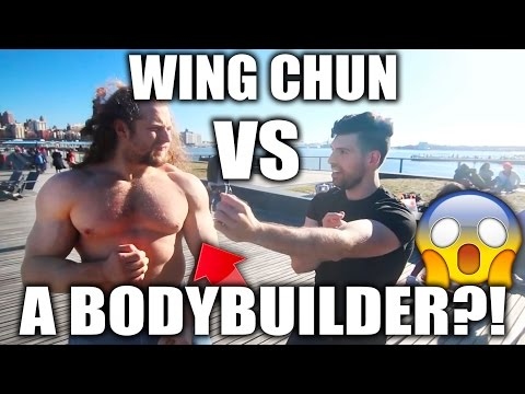 WING CHUN Vs a BODYBUILDER with Jujimufu: Can You SURVIVE??!