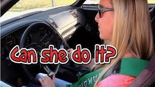 Hot blonde learns stick on 1000hp Supra Turbo