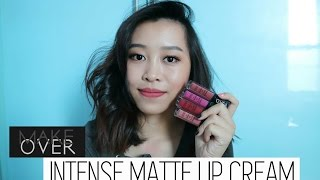 MAKEOVER Intense Matte Lip Cream SWATCHES & REVIEW || ENG SUB || CHIKEZIA