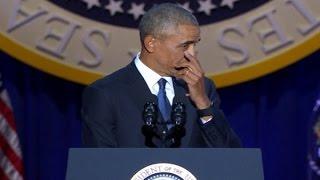 أوباما يذرف الدموع في خطاب الوداع!- نعيم برجاوي