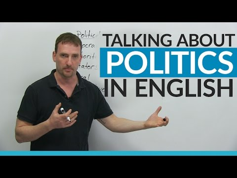 Vocabulary Talking about POLITICS in English