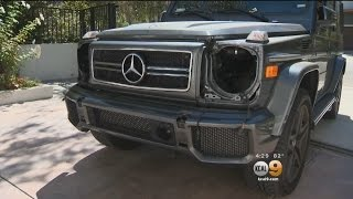 Caught on Camera: Thieves Strip Rare Mercedes SUV For Parts At Home