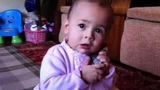 Baby talking Deena's 1st BD