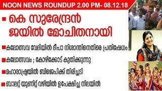 NOON NEWS ROUNDUP 2.00 PM- 08.12.18