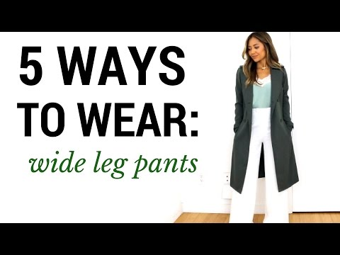 5 Ways To Wear: Wide Leg Pants | Outfit Ideas + Lookbook + How To Style