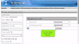 How to change your control panel and FTP passwords in H-Sphere
