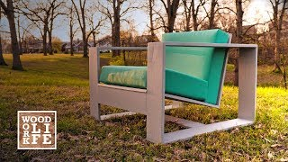 DIY Modern Adirondack Chair - w/ Hidden Bottle Opener & Drink Holder | Builds