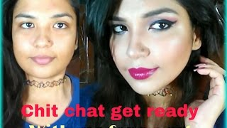 Chit chat get ready with me for a party  Makeup love by Rishita  Q&A open