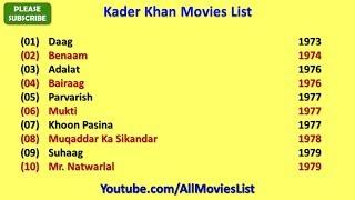 Kader Khan Movies List