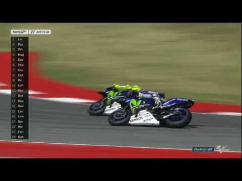 Crazy overtake by Rossi vs Lorenzo at San Marino GP