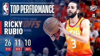 Ricky Rubio Leads The Jazz A Game 3 Victory With A Triple Double!