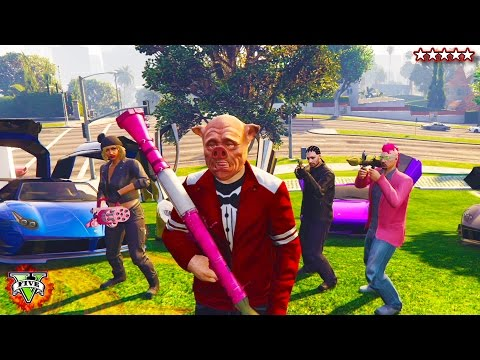 HikePlays GTA 5 PIGGY HUNT Playing Mini Games w The Crew GTA Piggy Hunt GTA 5