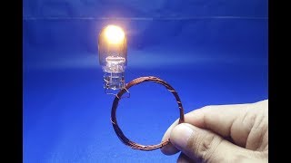 wire copper with light bulbs 12 Free energy  generator    simple 2018