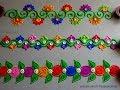 Diwali special easy border rangoli designs   Innovative rangoli designs by Poonam Borkar