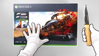 "Unboxing Xbox One X ""Forza Horizon 4"" 1TB Console"