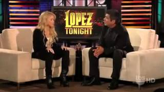 Shakira Interview on Lopez Tonight very beautiful