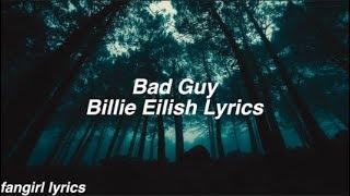Bad Guy    Billie Eilish Lyrics
