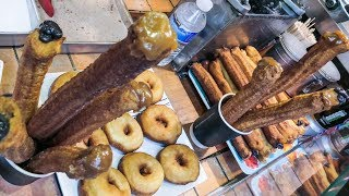 Yummy Filled Fried Churros. South American Street Food Seen in London Camden Town