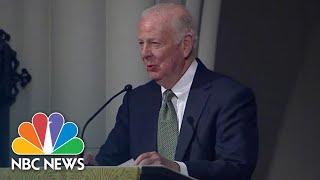 Full Speech: Jim Baker Chokes Up In Eulogy To George H.W. Bush   NBC News