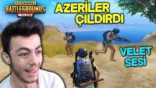 İKİ ÇILGIN AZERBAYCAN TÜRKÜ ÇOCUKLARI  VELET SESİ İLE TROLLEDİM - PUBG Mobile