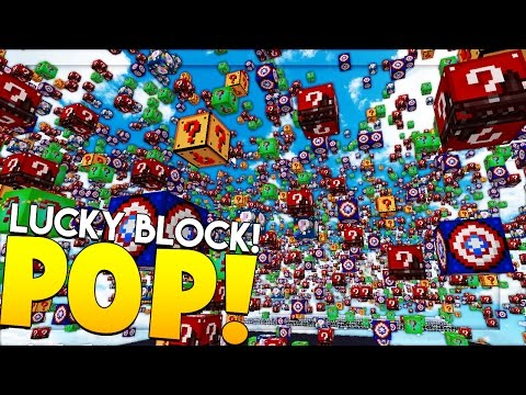 HILARIOUS MINECRAFT LUCKY BLOCK POP MOD CHALLENGE - MODDED MINIGAME