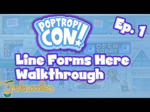 ★ Poptropica Poptropicon Ep. 1 Line Forms Here Walkthrough ★