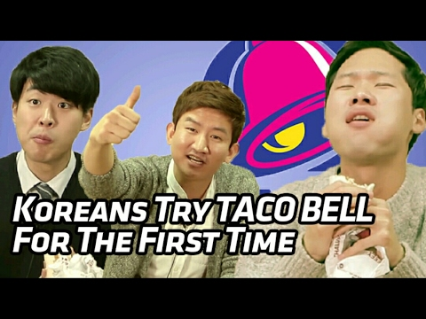 Koreans Try TACO BELL For The First Time [Korean Bros]