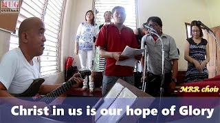 Christ in us is our hope of glory chords and guitar cover