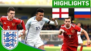England U17 2 - 1 Russia | Official Highlights