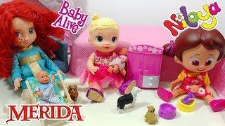 Baby Alive Rüyasında Niloya Prenses Merida İle Evcilik Oynuyor   Oyuncak Butiiğim
