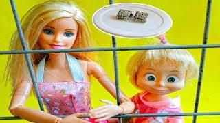 bajka Masza i Niedźwiedź po polsku Barbie i Masza w więżeniu skradzione kolczyki
