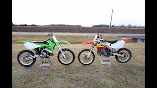 Honda Cr 250 vs Kawasaki Kx 250!!!
