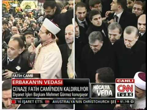 Necmettin Erbakanin Cenaze Töreni Fatih Cami