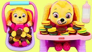 LEARN COLORS Paw Patrol Baby Color Matching Cookies Game Best Learning Colors Video for Children!