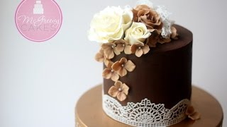 How to Ganache (or buttercream) a Cake and Get Sharp Edges!