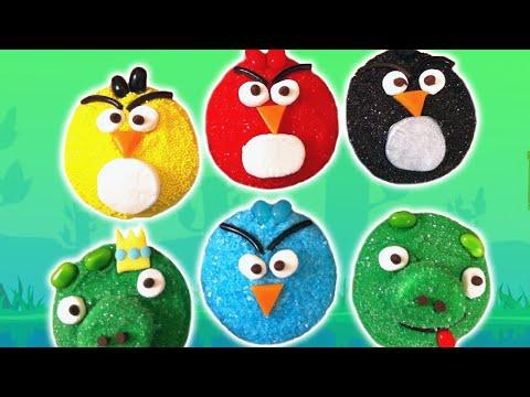 ANGRY BIRDS CUPCAKES NERDY NUMMIES