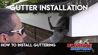How to install guttering