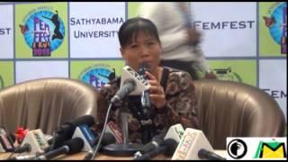 Satyabama University Film Fest 2015   Boxer Mary Kom Press Meet