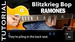 Cómo tocar PUNK Rock (Blitzkrieg Bop) de Ramones en guitarra |Guitarraviva