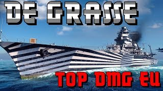 NEW top dmg on EU  with De Grasse - World of Warships