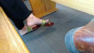 Indian girl shoe play at DMV