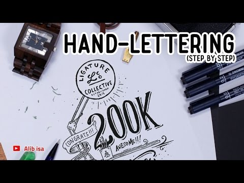 HAND-LETTERING (step by step) - ALIB ISA