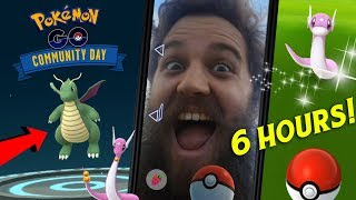WE HAD 6 HOURS FOR COMMUNITY DAY?? - SO MANY SHINY DRATINI & DRAGONITE (POKEMON GO)