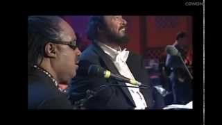 Pavarotti & Stevie Wonder - Peace Wanted Just To Be Free(with English & Persian Subtitle)