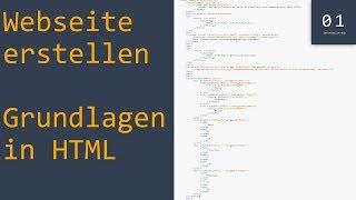 Webseite erstellen mit HTML #1 | Tutorial