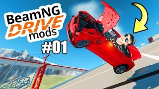 SO FÄHRT MAN RICHTIG AUTO!! - BeamNG Mods #01 [Deutsch/HD]