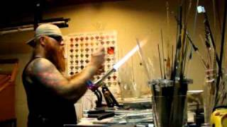 Honeycomb Glass blowing with music