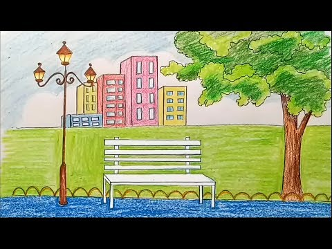 Xxx Mp4 How To Draw Scenery Of City Park Step By Step 3gp Sex