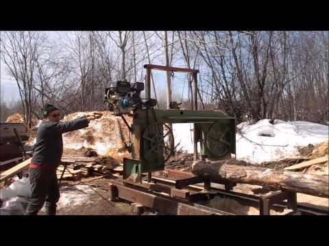Off Grid Homemade Bandsaw Mill Explained And Demonstrated
